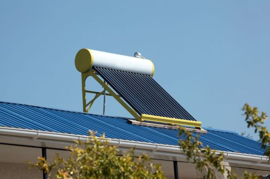 15590243 - water heating solar panels on the roof