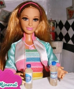 barbie with drinking water