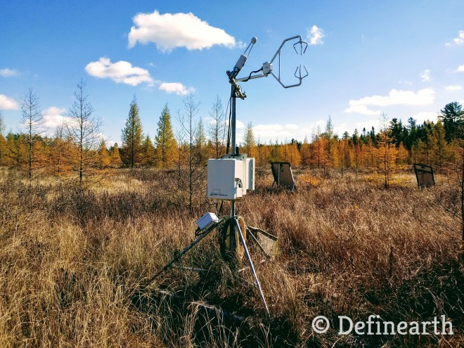 flux tower in field